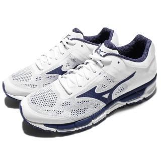 【MIZUNO】慢跑鞋 Synchro MX 2 運動 男鞋 美津濃 跑鞋 跑步 避震 健身房 男 白 藍(J1GE171917)