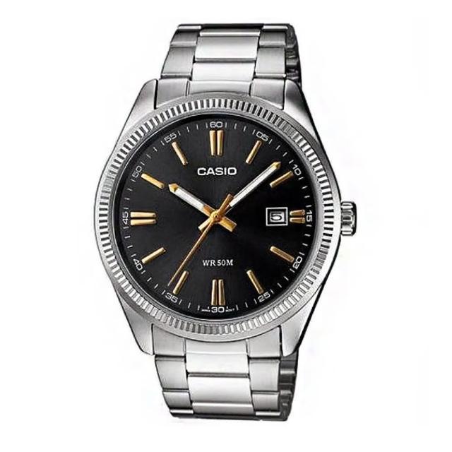 【CASIO】時尚新貴造型腕錶(MTP-1302D-1A2)