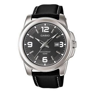 【CASIO】專業時尚紳士真皮腕錶(MTP-1314L-8A)