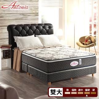 【Antonia】三線 康背 1450多顆數獨立筒床墊-雙人加大6尺(高蓬度+天絲棉+羊毛+德國乳膠)