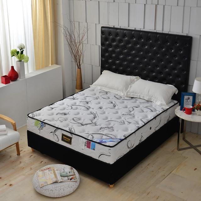 【A+愛家】瑞士Sanitized涼感長效型抗菌除臭(側邊強化獨立筒床墊-雙人五尺-厚麵包床)