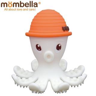 【英國 Mombella】樂咬咬章魚固齒器(橘色)