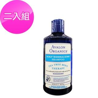 【AVALON】湛藍茶樹薄荷洗髮精414ml(二入組)