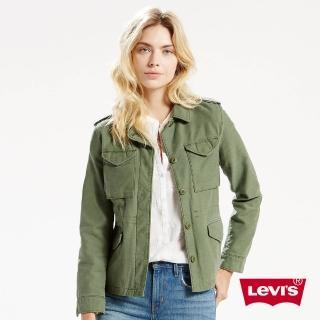 【Levis】軍綠色風衣外套 / 純棉