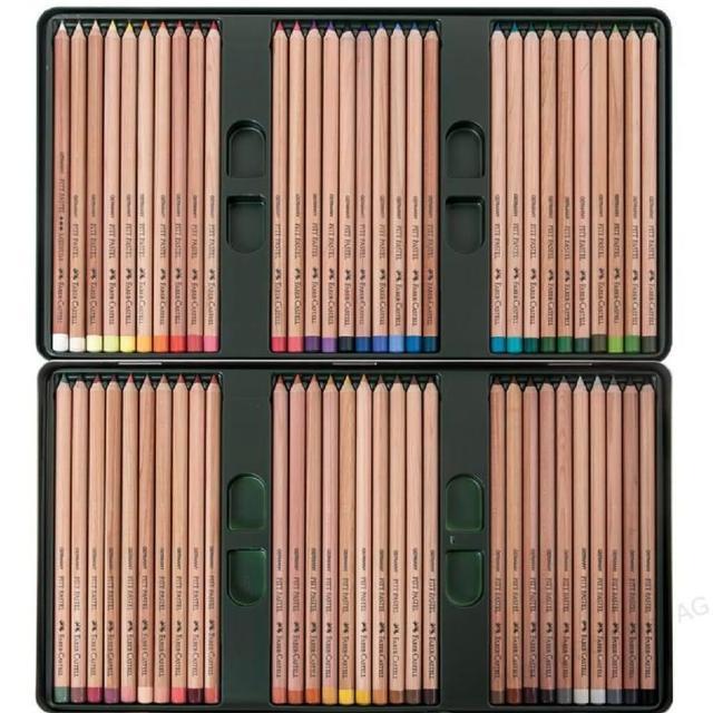 【Faber-Castell】藝術家級PITT粉彩色鉛筆60色精緻鐵盒裝(112160)