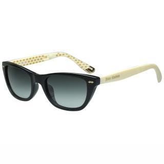【Juicy Couture】-時尚太陽眼鏡(黑色+白腳)