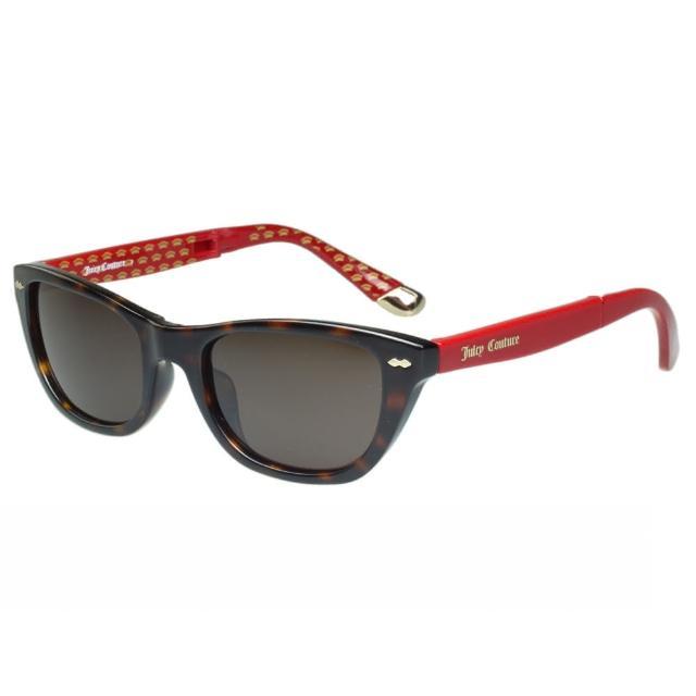 【Juicy Couture】-時尚太陽眼鏡(琥珀+紅腳)