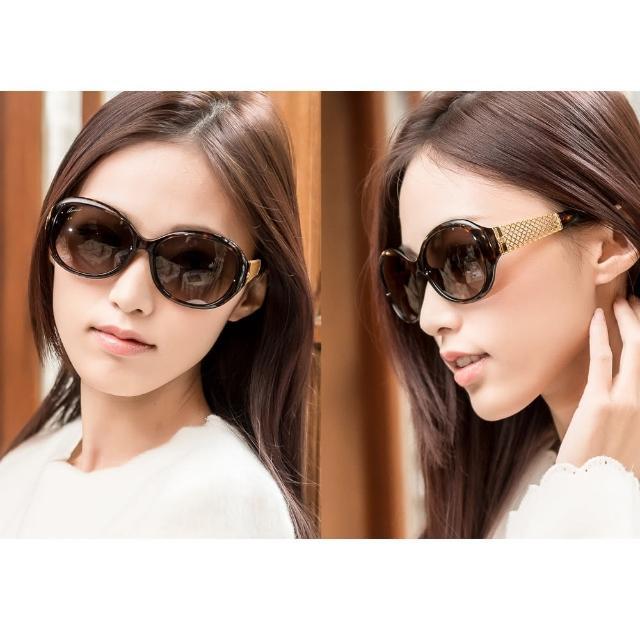 【GUCCI】-奢華鍍金款 太陽眼鏡(琥珀色)