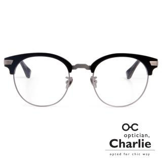 【Optician Charlie】韓國亞洲專利光學眼鏡FP系列(黑 + 銀   FP BK)