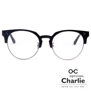 【Optician Charlie】韓國亞洲專利光學眼鏡RV系列(簡約黑  RV BK)
