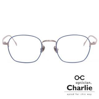 【Optician Charlie】韓國亞洲專利光學眼鏡TF系列(深藍 + 銀  TF NV)
