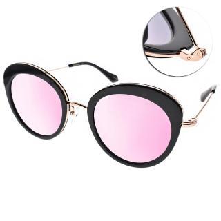 【PAUL HUEMAN 太陽眼鏡】典雅貓眼水銀款眼鏡(黑玫瑰金#PHS1097A 05-1)