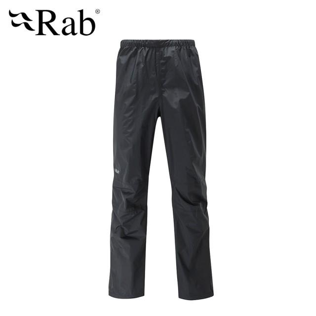 【英國 RAB】Downpour Pants 高透氣防水長褲 男款 黑 #QWF62(高透氣防水長褲)