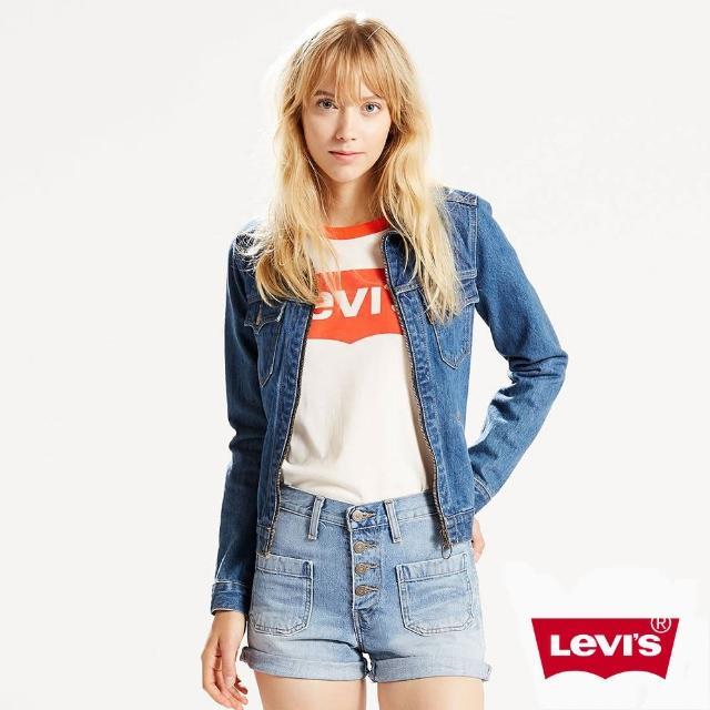 【Levis】高腰牛仔短褲 / 橘標 / 排釦