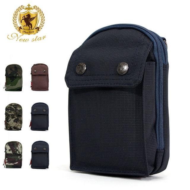 【NEW STAR】腰包 輕便素面迷彩雙層掛包側背包手機包包 BW33(掛包側背包)