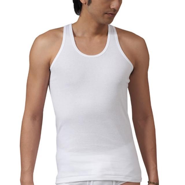 【宜而爽】時尚型男羅紋短袖羅紋背心4件組(白M-XL)
