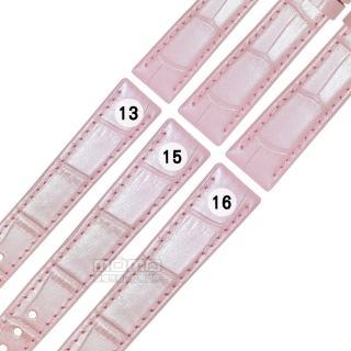 【Watchband】SEIKO LUKIA 精工 別緻鮮亮壓紋牛皮替用錶帶(粉色)