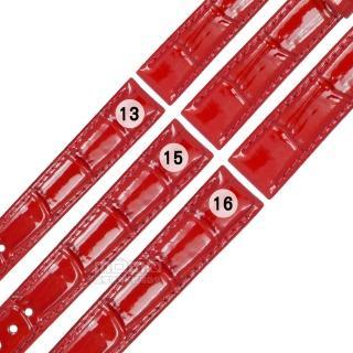 【Watchband】SEIKO LUKIA 精工 別緻鮮亮壓紋牛皮替用錶帶(紅色)