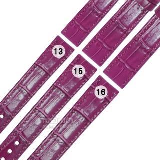 【Watchband】SEIKO LUKIA 精工 別緻鮮亮壓紋牛皮替用錶帶(紫色)