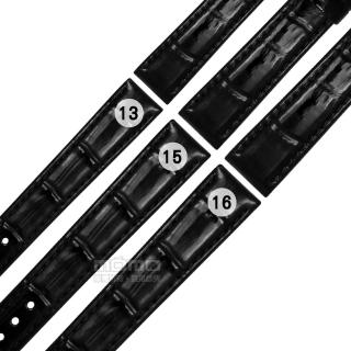 【Watchband】SEIKO LUKIA 精工 別緻鮮亮壓紋牛皮替用錶帶(黑色)