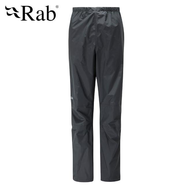 【英國 RAB】Downpour Pants 高透氣防水長褲 女款 黑 #QWF64(高透氣防水長褲)