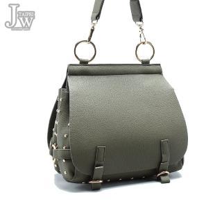 【JW】仙杜瑞拉時尚鉚釘雙開口肩背斜背包(共4色)