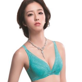 【思薇爾】仲夏之夢系列B-E罩深V蕾絲包覆內衣(卡不里藍)