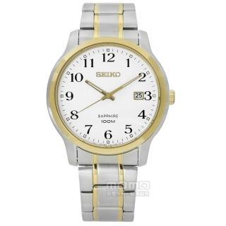 【SEIKO 精工】★贈皮錶帶/主打都會時尚藍寶石水晶不鏽鋼手錶 白x金框 41mm(7N42-0GE0G.SGEH68P1)