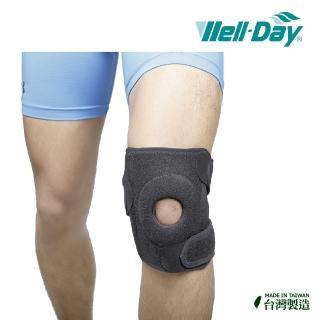 【WELL-DAY】專業醫療遠紅外線銀纖維運動護膝/護膝蓋/穩定髕骨(遠紅外線促進血液循環/銀纖維抗菌除臭)