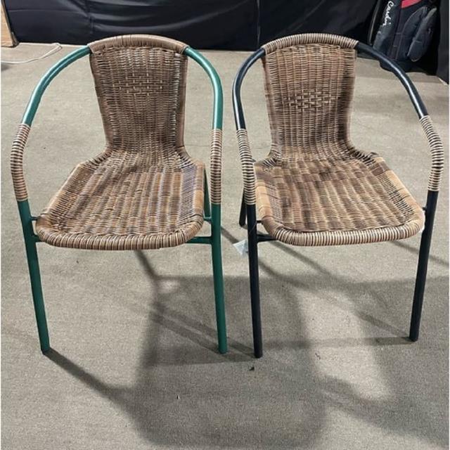 【BROTHER 兄弟牌】兄弟牌PE藤製鐵管休閒椅4入裝-綠管.黑管任選(戶外休閒椅)