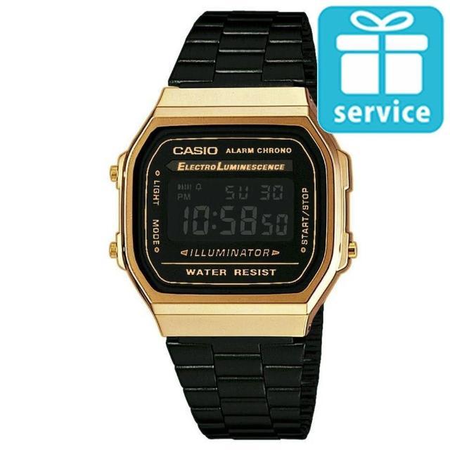 【CASIO】回到未來方款經典電子錶(A-168WEGB-1B)