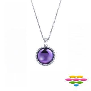【彩糖鑽工坊】14K白 紫水晶寶石項鍊(CL-PD185)
