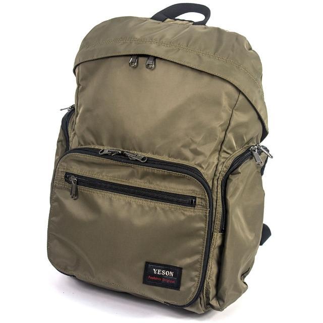 【YESON】超輕量可折疊收納後背包(MG-6658-卡其)
