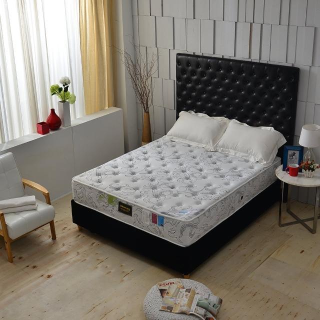 【A+愛家】德國SILVERPLUS銀離子涼感抗菌除臭(側邊強化獨立筒床墊-雙人五尺 麵包床)
