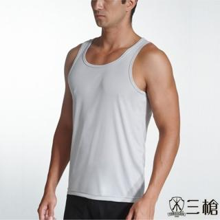 【三槍牌】時尚經典排汗速乾型男E棉彩色背心(灰3件組)
