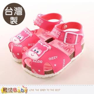 【魔法Baby】13.5-16.5cm女童鞋 台灣製super wins正版兒童涼鞋(sk0033)