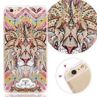 【KnowStar】APPLE iPhone6 Plus/6s Plus 奧地利水晶彩繪防摔手機鑽殼-王者(5.5吋)