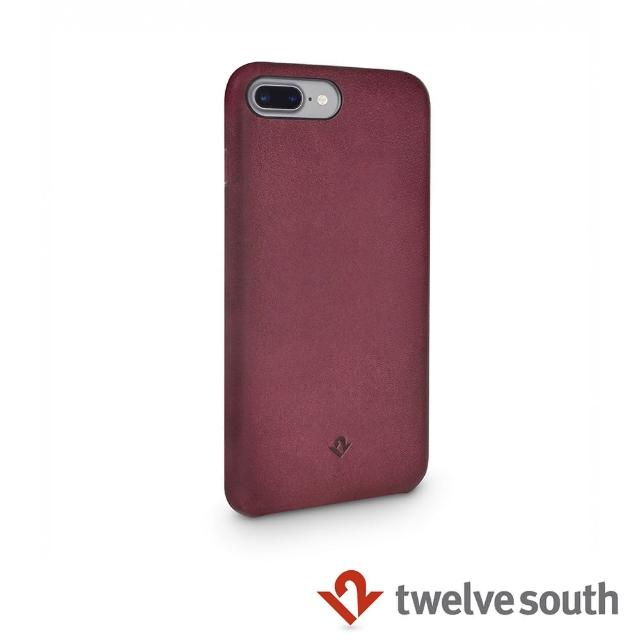 【Twelve South】Relaxed Leather iPhone 7 Plus 皮革保護背蓋(馬薩拉酒紅)