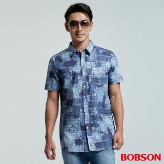 【BOBSON】男款補釘印花襯衫(26009-53)