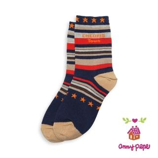 ~annypepe~兒童純棉短襪~彩色條紋款