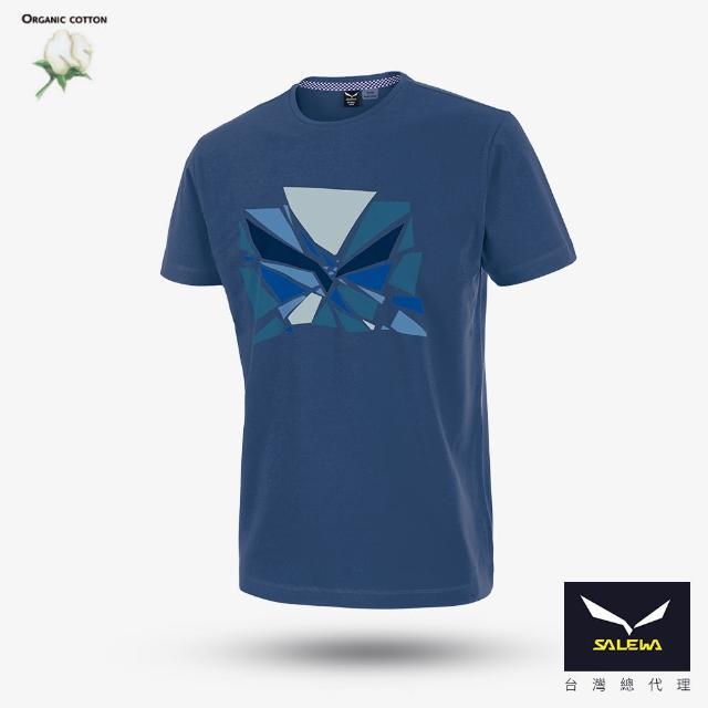 【義大利 SALEWA】男T恤 棉混紡(25744-8671 深牛仔藍)