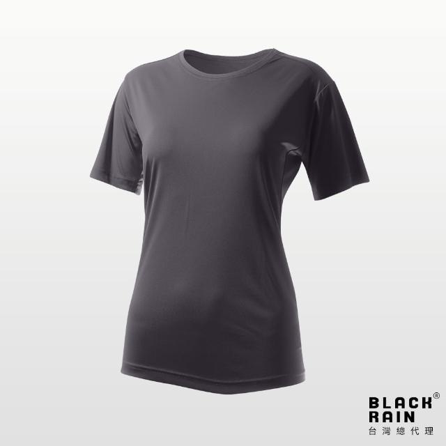 【荷蘭Black Rain】女圓領短袖休閒衫 BR-112011(11161 石墨灰)