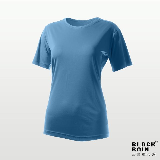 【荷蘭Black Rain】女圓領短袖休閒衫 BR-112011(12104 海嘯藍)