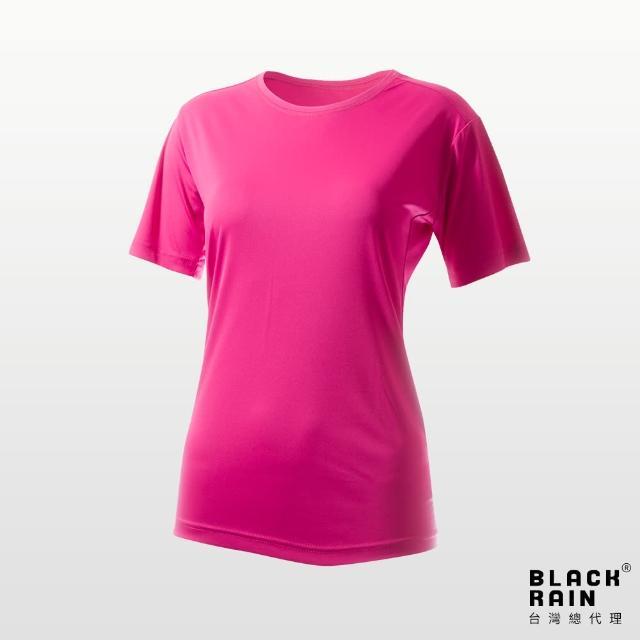 【荷蘭Black Rain】女圓領短袖休閒衫 BR-112011(13106 熱帶粉)