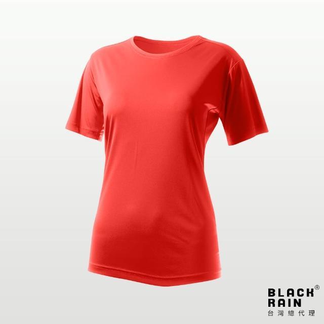 【荷蘭Black Rain】女圓領短袖休閒衫 BR-112011(13161 真實紅)