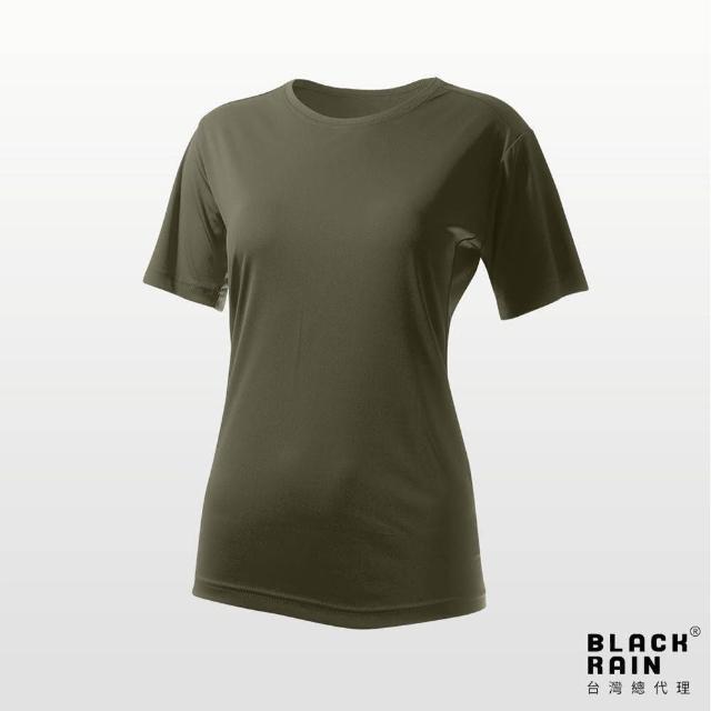 【荷蘭Black Rain】女圓領短袖休閒衫 BR-112011(14137 墨綠色)