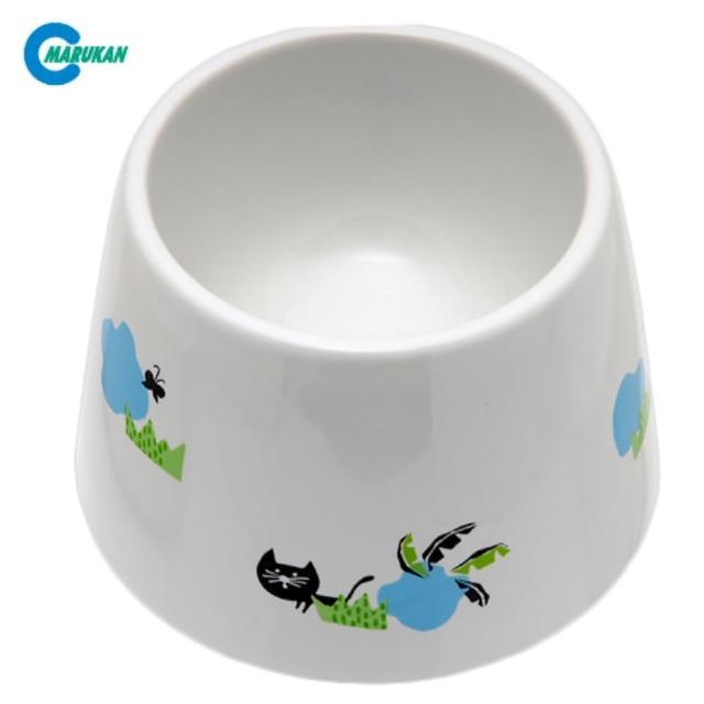 【Marukan】加高型 飲水用 陶瓷飯碗 貓用(CT-416)