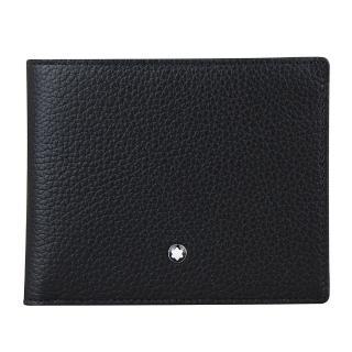 【萬寶龍 MONTBLANC】大班系列牛皮荔枝紋9卡對折短夾(黑色)