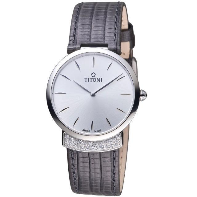 【TITONI】MADEMOISELLE優雅伊人系列皮革腕錶(TQ42912S-ST-590)