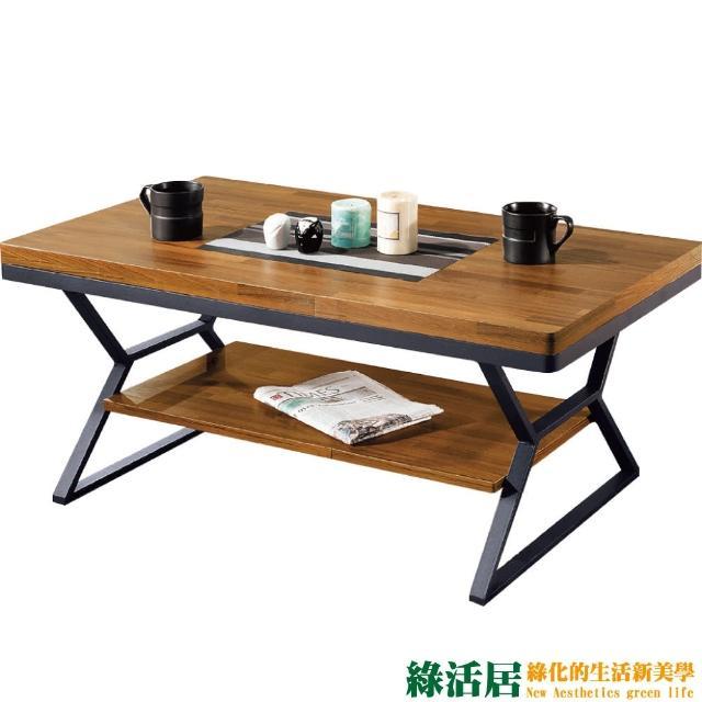 【綠活居】摩斯  時尚3.6尺胡桃木紋大茶几